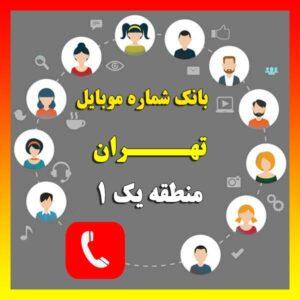 دانلود رایگان بانک شماره موبایل مناطق تهران منطقه یک